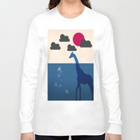 africa Long Sleeve T-shirts featuring Africa by Mehdi Elkorchi
