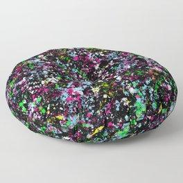 paint drop design - abstract spray paint drops 5 Floor Pillow