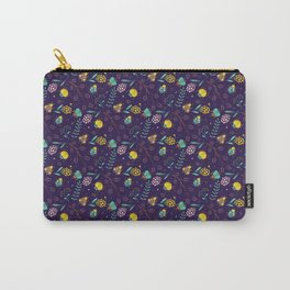 Flora & Beetles (purple) Carry-All Pouch