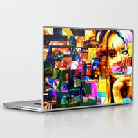 lindsay lohan Laptop & iPad Skins featuring Lindsay-Alice-Court-Glitch by Peter Marsh