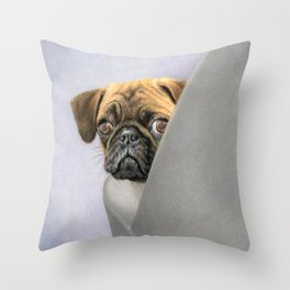 """""""Oh, You're Home..."""" Throw Pillow"""