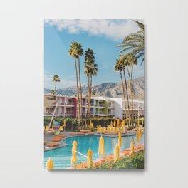 Palm Springs Saguaro Metal Print