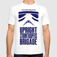 UPRIGHT STORMTROOPERS BRIGADE MEDIUM White Mens Fitted Tee