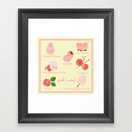 Colors: pink (Los colores: rosa) Framed Art Print