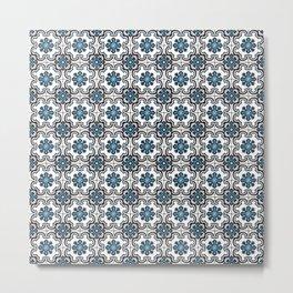 Floor Series: Peranakan Tiles 35 Metal Print