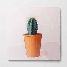 Zen Cactus Metal Print
