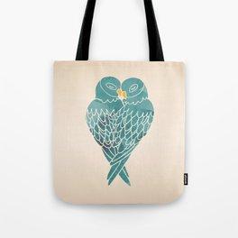 Love Birds (Blue) Tote Bag