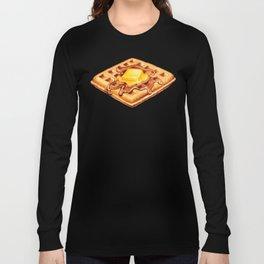 Waffle Pattern Long Sleeve T-shirt