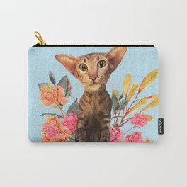 kitty in spring blossom Carry-All Pouch