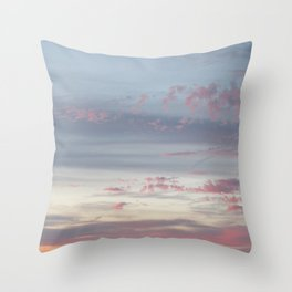 Colorful clouds in sunset Throw Pillow