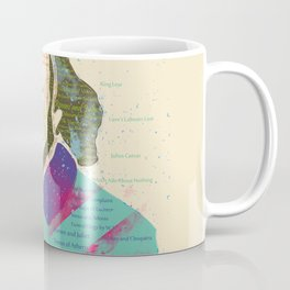 Portrait of William Shakespeare-Hand drawn Coffee Mug