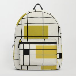 1950's Abstract Art Chartreuse Backpack