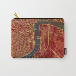 09-New Orleans Louisiana 1932, red and blue old map Carry-All Pouch