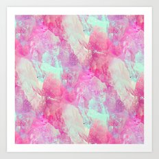 Abstract glass effect Art Print