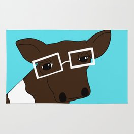 Matilda the Hipster Cow Rug