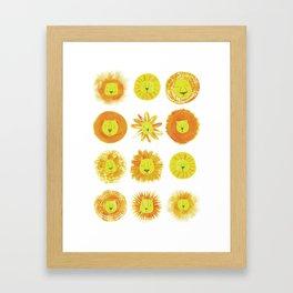 Lion heads Framed Art Print