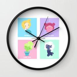 Monster Girls B Wall Clock