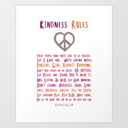 Kindness U Art Print