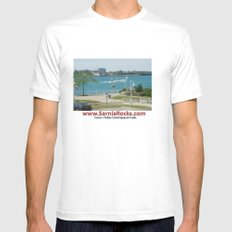 St Clair River Mens Fitted Tee White MEDIUM