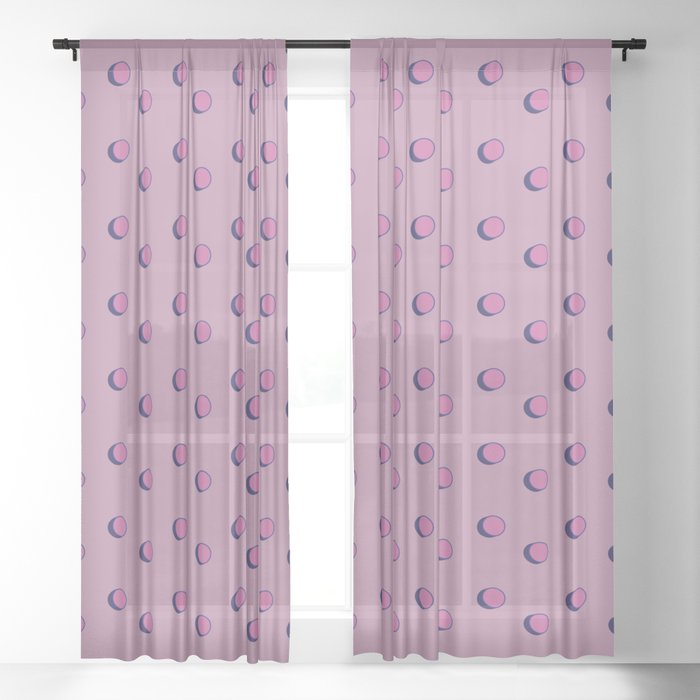 3D Dotted Pattern III Sheer Curtain