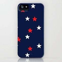 Summertime Stars in Red, White, and Blue iPhone Case