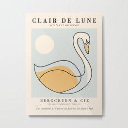 Exibition poster-Clair de Lune-1902. Metal Print