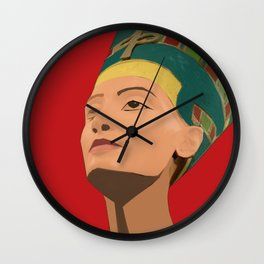 Ancient Relics: Nefertiti Wall Clock