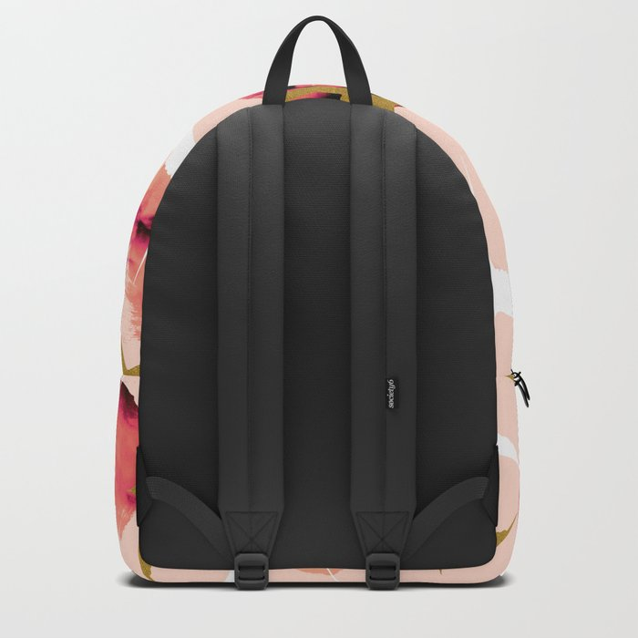Bird flying with sunset Backpack
