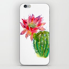 Blooming Dwarf Chin Cacti iPhone Skin