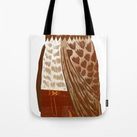 hip hop Tote Bags featuring Hip Hop Owl by Santiago Uceda
