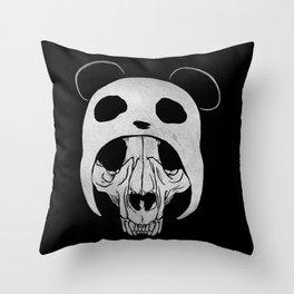 Panda Skull Throw Pillow
