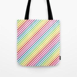 Rainbow Geometric Striped Pattern Tote Bag