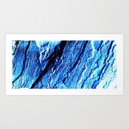 Stone Texture Blue Art Print