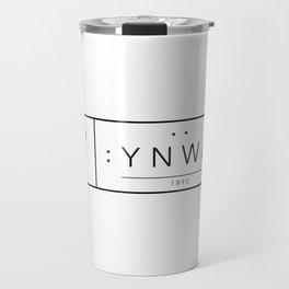 Liverpool minimal logo Black Travel Mug