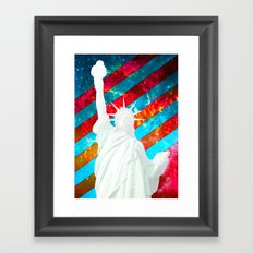 Liberty Pop Art Framed Art Print