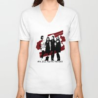 pretty little liars V-neck T-shirts featuring Pretty Little Liars by Rose's Creation