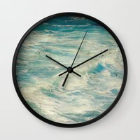 big sur Wall Clocks featuring Big Sur - Pacificus Wondrous  by Jenndalyn