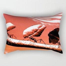 Leaf cutter ants Rectangular Pillow