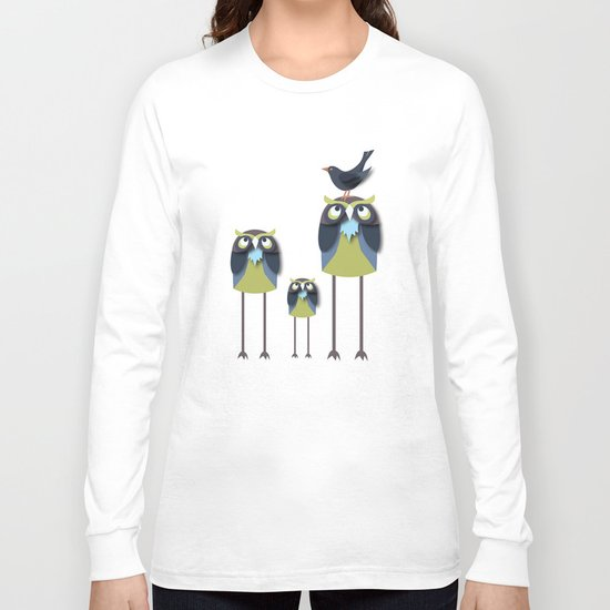 Long-Legged Owls Long Sleeve T-shirt