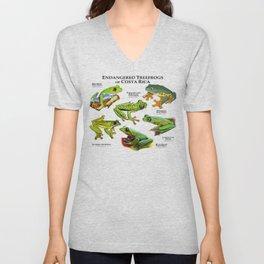 Endangered Treefrogs of Costa Rica Unisex V-Neck