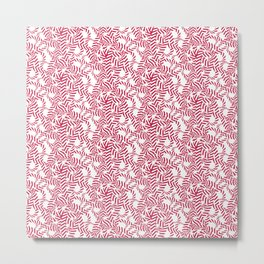 Candy cane flower pattern 7 Metal Print