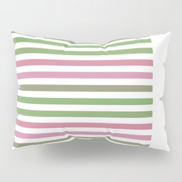Pink Roses in Anzures 4 Stripes 1H Pillow Sham