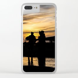 soldier sunset - 1 Clear iPhone Case