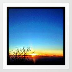 Mountain sunset. Art Print