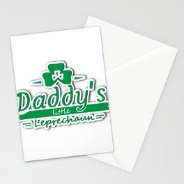 Daddy's Little Leprechaun St Patricks Day Kids Or Boy Stationery Cards