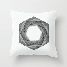 STIPPLE HEXAGON Throw Pillow