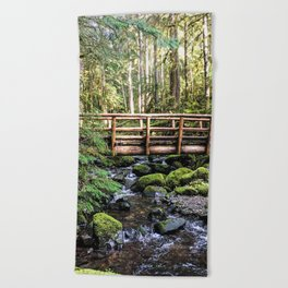 Wanderlust Beauty // Take Me to the Forest Where the Peaceful Waters Flow in the Dense Woods Beach Towel