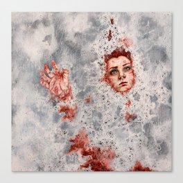 The Little Mermaid Dissolves Into Seafoam Canvas Print