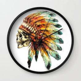 Skull Colorful Chief Wall Clock
