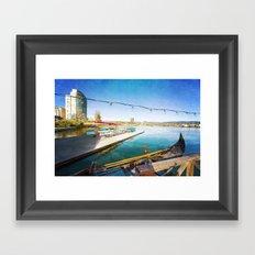 Lake Merritt Gondola Framed Art Print